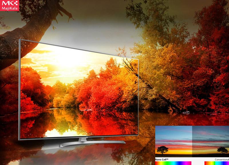 توانایی نمایش رنگ های زیاد و تصویر با کیفیت ال جی sj800