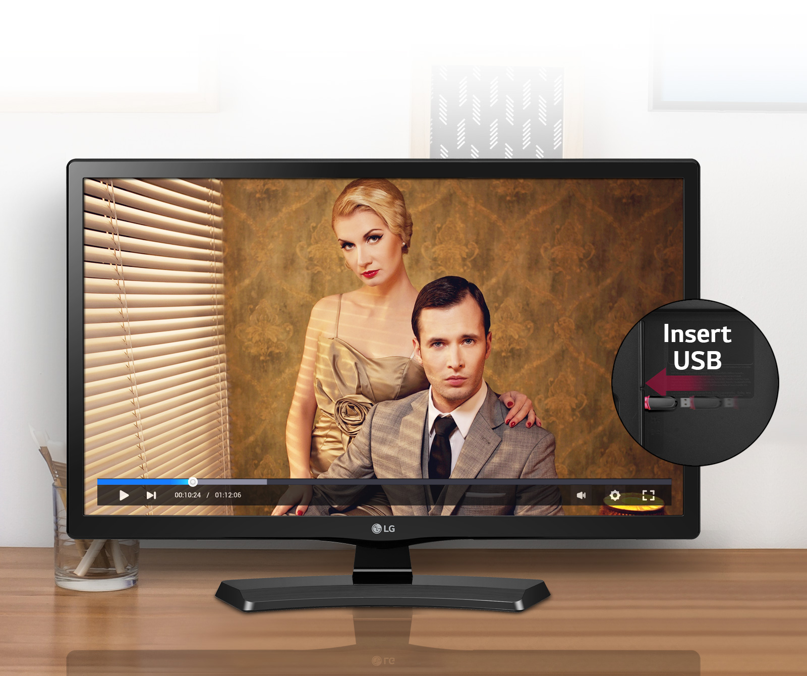 تلویزیون ال جی 28 اینچmt48vf