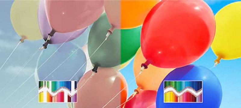 رنگ هایی زنده و متنوع در تصویر تلویزیون سونی x9000h