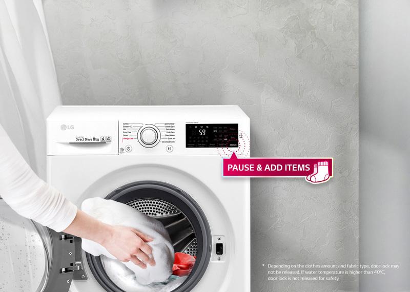 اضافه کردن لباس در وسط پروسه ی شستشو